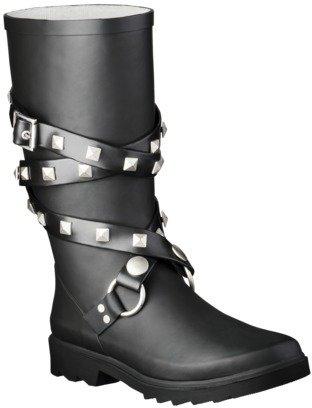 Women's Moto Rain Boot - Black