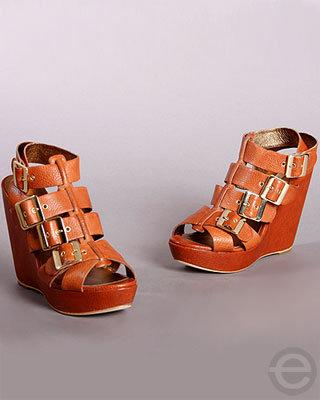Cynthia Vincent Harper Gladiator Wedge Sandals