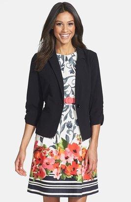Women's Eliza J Ruched Sleeve Blazer $78 thestylecure.com