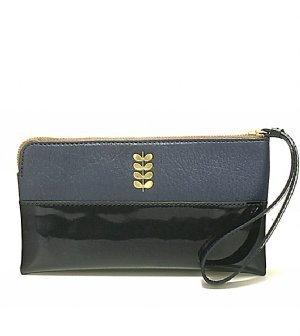 Orla Kiely Soft Leather Flat Zip Wallet Pouch