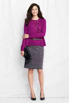 Lands' End Women's Regular Herringbone Pencil Skirt