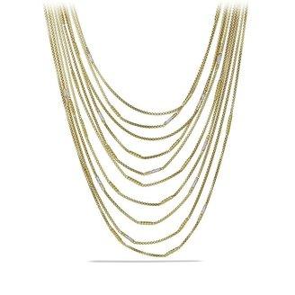 David Yurman Willow Chain Necklace with Diamonds