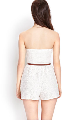 Forever 21 Crocheted Romper