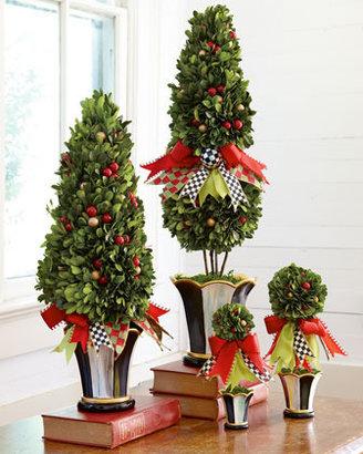 """Mackenzie Childs MacKenzie-Childs Small Holiday Topiary, 9""""T"""