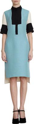 Marni Colorblock Cuffed Short Sleeve Dress