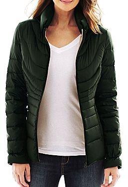 JCPenney a.n.a® Packable Duck Down Puffer Jacket - Talls