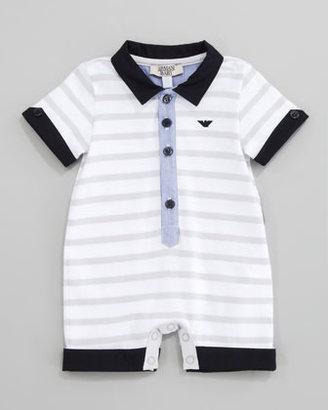 Armani Junior Striped Knit Playsuit