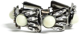 Anton Heunis Fan Style Crystal Link Bracelet