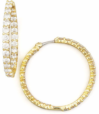 Roberto Coin 35mm Yellow Gold Diamond Hoop Earrings, 5.55ct