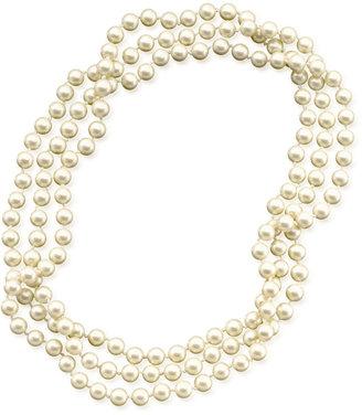 Lauren Ralph Lauren Long Glass Pearl Necklace