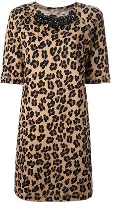 P.A.R.O.S.H. leopard print sweatshirt dress