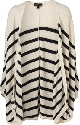 Topshop Knitted Stripe Cape Cardigan