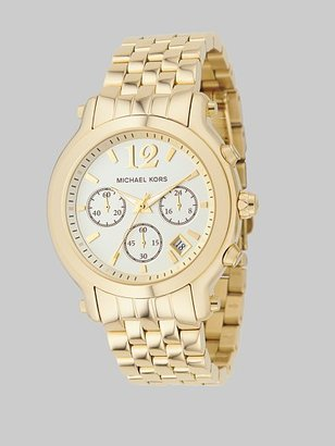 Michael Kors Gold IP Stainless Steel Bracelet Watch