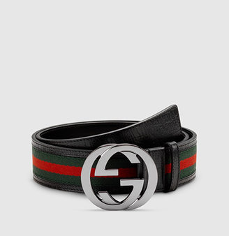 signature web belt with interlocking G buckle