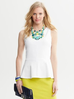 Banana Republic Ponte Knit Peplum Top