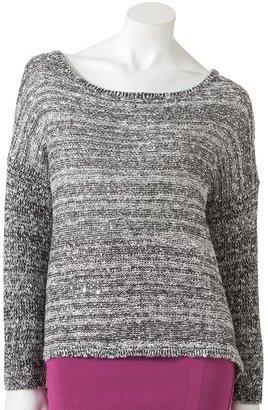 Rock & Republic Rock and republic marled drop-tail hem sweater