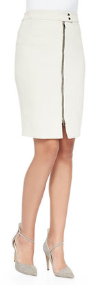 L'Agence Zip-Front Pencil Skirt