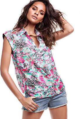Victoria's Secret Short-sleeve Henley