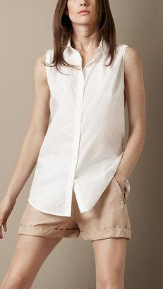 Burberry Sleeveless Cotton Blouse