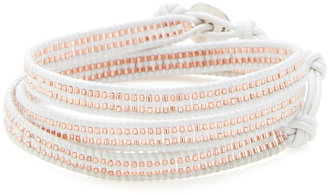 Chan Luu Indian Seed Bead & Leather Wrap Bracelet