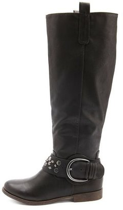 Charlotte Russe Studded Strap Knee-High Boot