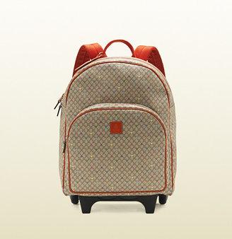 Gucci micro GG supreme canvas stars trolley backpack