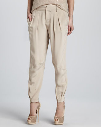 Haute Hippie Pleated Pants with Tabs