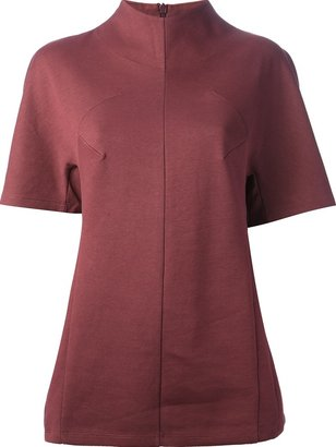 Carven funnel neck blouse