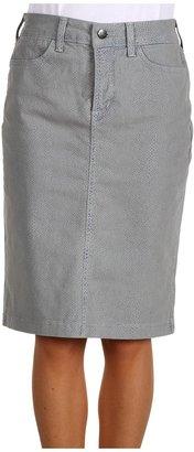 NYDJ Emma Snake-Print Skirt (Lizard Blue Multi) - Apparel