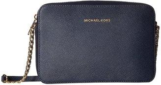 MICHAEL Michael Kors Jet Set Travel Large East/West Crossbody (Admiral) Cross Body Handbags
