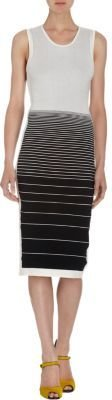 Narciso Rodriguez Degrading Striped Sleeveless Dress