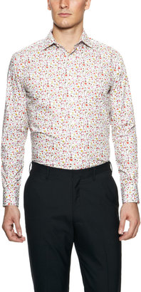 Duchamp Ditsy Garden Print Dress Shirt