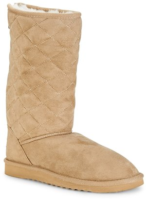 Aeropostale Diamond Quilted Sherpa Boot