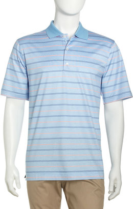 Bobby Jones Striped Cotton Jersey Polo, Daydream