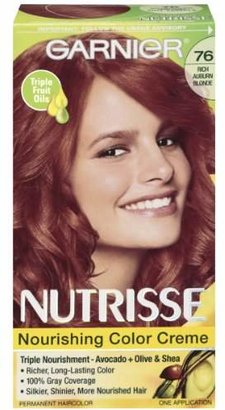 Garnier Nutrisse Nourishing Color Creme, 76 Rich Auburn Blonde (Hot Tamale) (Packaging May Vary) $7.99 thestylecure.com