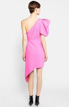 Saint Laurent Puffed One-Shoulder Dress