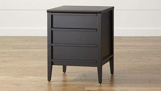 Crate & Barrel Spotlight Ebony Filing Cabinet