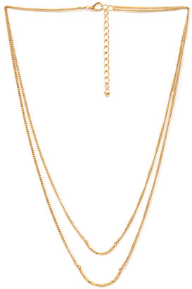 Forever 21 Curved Pendants Necklace