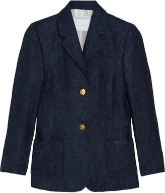 Black Fleece Linen-chambray blazer
