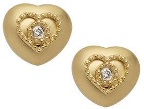 Brian Danielle Gold Heart Studs