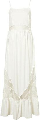 Topshop Lace Panel Maxi Dress
