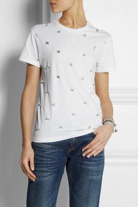 Swetc Cara embellished cotton T-shirt
