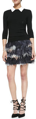Milly Feather Miniskirt