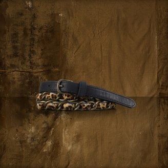 Denim & Supply Ralph Lauren Leopard Haircalf Chain Belt