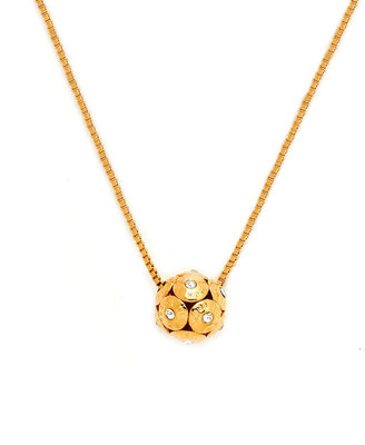 Henri Bendel Rivet Ball Necklace with Stones