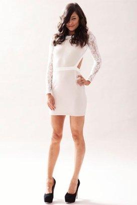 Keepsake One Way Window Dress in Ivory $149 thestylecure.com