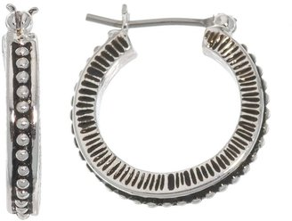 Napier® Antiqued Silver-Tone Hoop Earrings