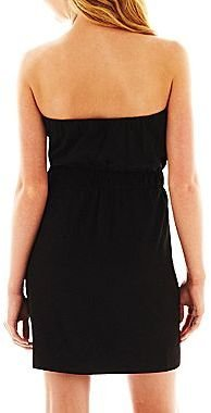 JCPenney a.n.a® Strapless Print Dress