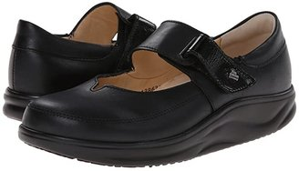 Finn Comfort Nagasaki (Black Nappa/Patent) Women's Shoes