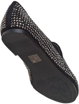Steve Madden Conncord Loafer Black Sparkle Fabric